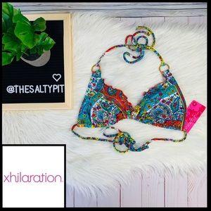 NWT Xhilaration Paisley Print Bikini Top, Sz M
